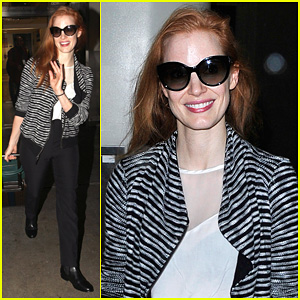 Jessica Chastain: In Town for 'An Evening Honoring Karl Lagerfeld'