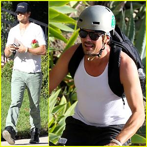 Josh Duhamel Bares His Biceps in Muscle Tank on Bike Ride!