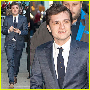 Josh Hutcherson Continues 'Catching Fire' Promo on 'Letterman'!