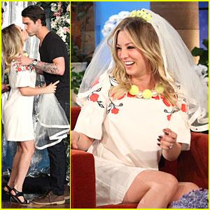 Kaley Cuoco: Fake Wedding to Ryan Sweeting on 'Ellen'!