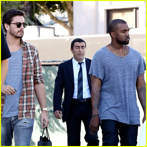Kanye West Goes Shopping with Scott Disick