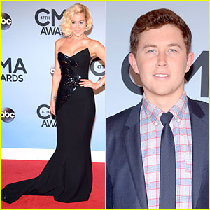 Kellie Pickler & Scotty McCreery - CMA Awards 2013 Red Carpet