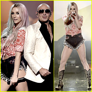 Ke$ha & Pitbull: 'Timber' AMAs 2013 Performance (Video)!