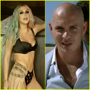Ke$ha Strips Down for Pitbull's 'Timber' Video - Watch Now!