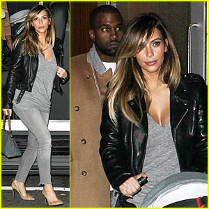 Kim Kardashian & Kanye West: Friday Dinner Date with North!