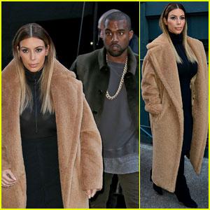 Kim Kardashian & Kanye West: NYC Movie Date!