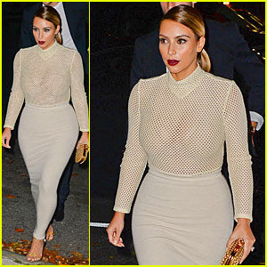 Kim Kardashian: Perforated Top For Outing with Kendall Jenner!