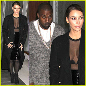 Kim Kardashian: Sheer Cleavage for Kanye West's Concert
