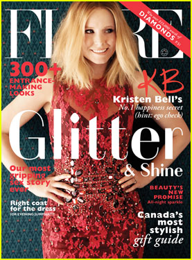 Kristen Bell Covers 'Flare' December 2013 (Exclusive!)