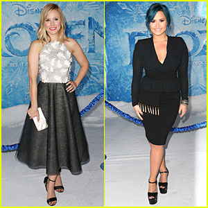 Kristen Bell & Demi Lovato: 'Frozen' Hollywood Premiere!