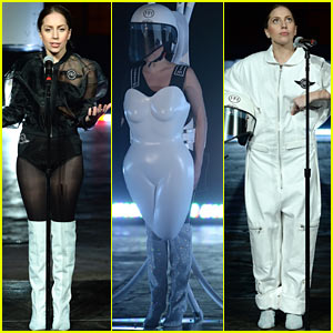 Lady Gaga Debuts Flying Dress at artRave Party!