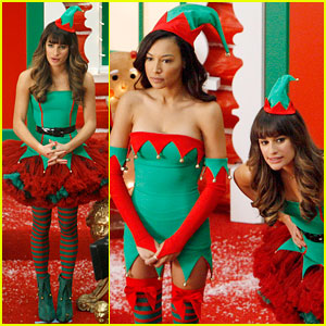 Lea Michele & Naya Rivera: Santa's Sexy Little Helpers!