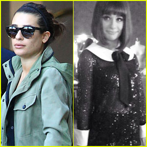 Lea Michele Steps Out After 'Glee' Tuesday Night Move