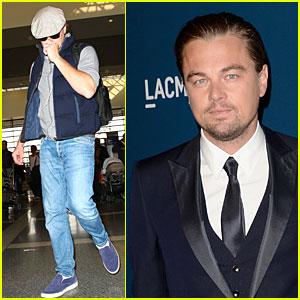 Leonardo DiCaprio: LAX Departure after LACMA Art & Film Gala!