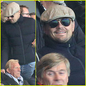 Leonardo DiCaprio: Paris Soccer Game with Mom Irmelin!
