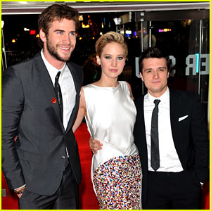 Liam Hemsworth & Josh Hutcherson: 'Catching Fire' Premiere!