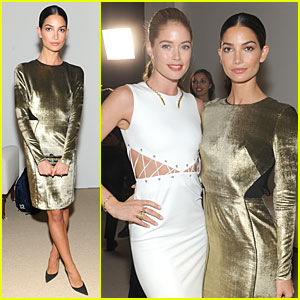 Lily Aldridge & Doutzen Kroes: CFDA Fashion Fund Finalists Celebration!