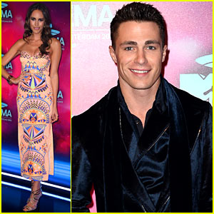 Louise Roe & Colton Haynes - MTV EMA 2013 Red Carpet