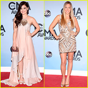 Lucy Hale & Colbie Caillat - CMA Awards 2013 Red Carpet