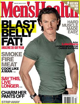 Hobbit's Luke Evans Covers 'Men's Health' December 2013