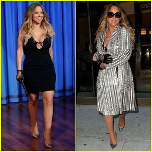 Mariah Carey Surprises Fans at Recording Studio on 'Fallon'