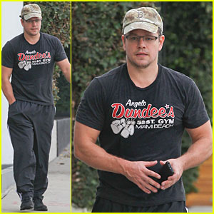 Matt Damon Flashes Buff Arms After Gym Workout!