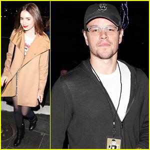Matt Damon & Lily Collins: Justin Timberlake '20/20' Concert Guests!