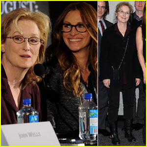 Julia Roberts & Meryl Streep: 'August: Osage County' Press Conference!