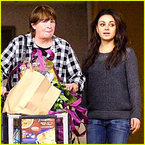 Mila Kunis Shops for Thanksgiving with Ashton Kutcher's Mom!