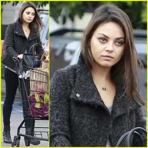 Mila Kunis Shops Amidst Ashton Kutcher's Walmart Twitter Feud