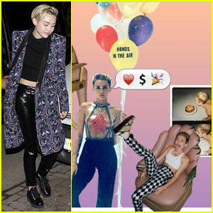 Miley Cyrus Debuts New Website Makeover!