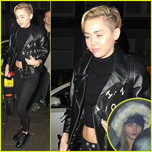 Miley Cyrus: Greenhouse Coffee Stop with Cara Delevingne!
