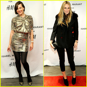 Milla Jovovich & Molly Sims: Isabel Marant for H&M Shoppers!