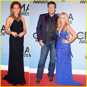 Miranda Lambert & Blake Shelton - CMA Awards 2013 Red Carpet