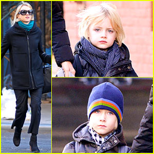 Naomi Watts Braves Chilly Weather For Morning School Walk!