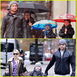 Naomi Watts & Liev Schreiber Brave Elements for Early Commute