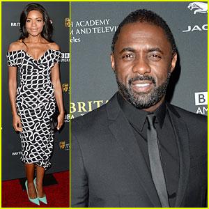 Naomie Harris & Idris Elba - BAFTA Britannia Awards 2013 Red Carpet