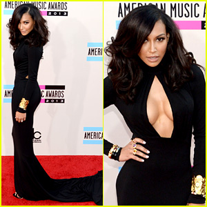 Naya Rivera - AMAs 2013 Red Carpet