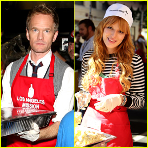 Neil Patrick Harris & Bella Thorne Help Feed the Homeless