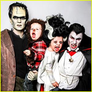 Neil Patrick Harris' Family Halloween Photo 2013 - Monsters!
