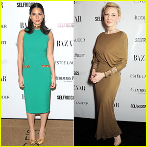 Olivia Munn & Cate Blanchett: Harper's Bazaar Women of the Year Awards 2013