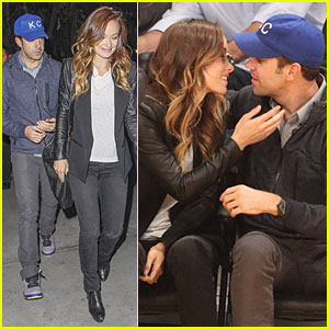 Olivia Wilde & Jason Sudeikis: Kissing at Lakers Game!