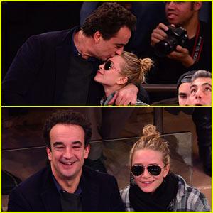 Olivier Sarkozy Kisses Mary-Kate Olsen at Knicks Game