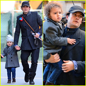 Orlando Bloom: Chilly Day in NYC with Flynn!