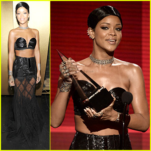 Rihanna - AMAs 2013 Backstage Appearance After Win!