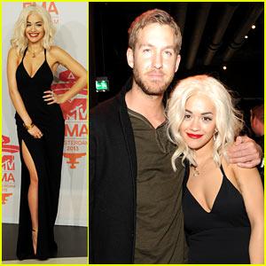 Rita Ora & Calvin Harris - MTV EMA 2013 Red Carpet