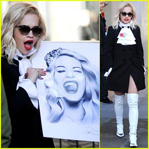 Rita Ora Wakes Up Bright & Early to Co-Host Radio Show!