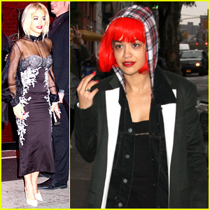 Rita Ora Wears Red Wig for Halloween in New York City
