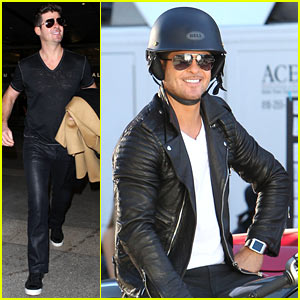 Robin Thicke: Biker Boy for New Music Video Shoot!