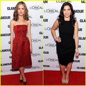 Rose Byrne & America Ferrera: Glamour's Women of the Year Awards 2013